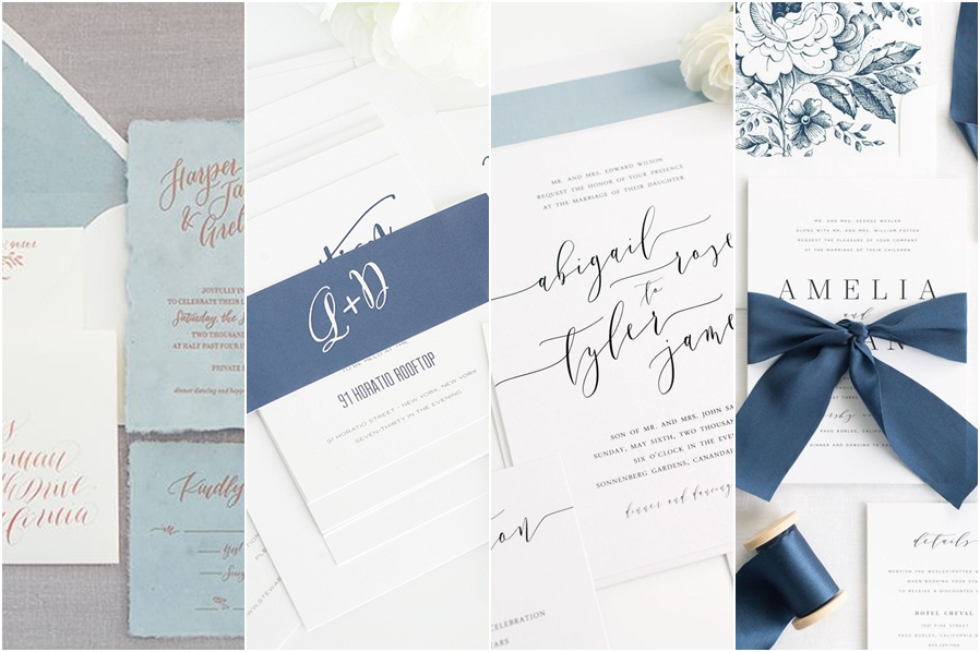 Highend magazine after few years of seeing pastels and rustic colors on wedding cards 2018 will be the year of new neutrals colder paler shades of blue like will take stopboris Choice Image